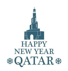 Greeting Card Qatar vector