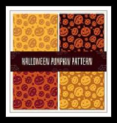 Halloween Pumpkin Pattern Set vector image