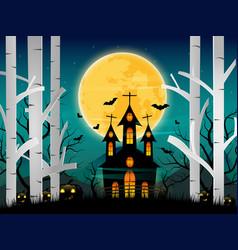 Happy night halloween background vector