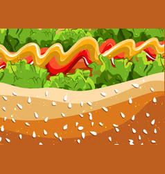 Hot dog fast food pattern background eps vector