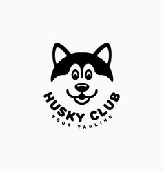 Husky club logo vector
