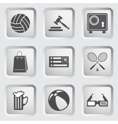 Icons on the buttons for Web Design Set 1 vector image