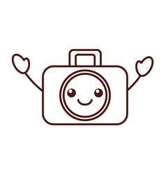 kawaii graphic design camera studio icon symbol vector image