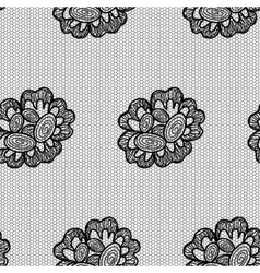 Lacy flower seamless pattern vector