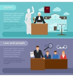 Law banners vector