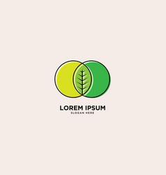 Nature leaf simple logo template vector