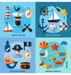 Nautical Icons Set vector