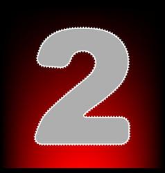 number 2 sign design template elements postage vector image