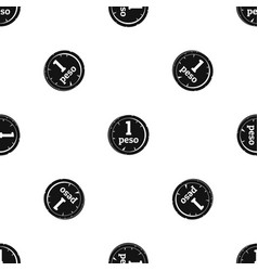 Peso pattern seamless black vector