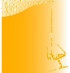 pouring a glass of fizzy wine vector image