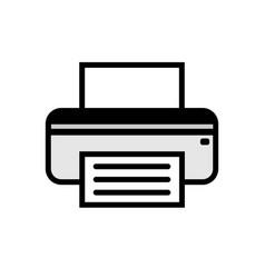 printer fax icon vector image