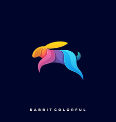 rabbit colorful template vector image
