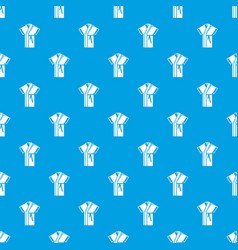 robe pattern seamless blue vector image