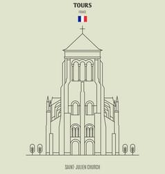 saint-julien in tours vector image