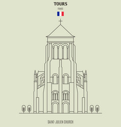 Saint-julien in tours vector