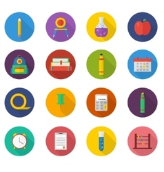 School icon set icons vector image
