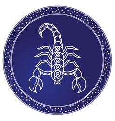 Scorpio zodiac sign astrology and horoscope vector