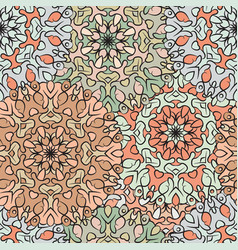 Seamless pattern in oriental style colored vector