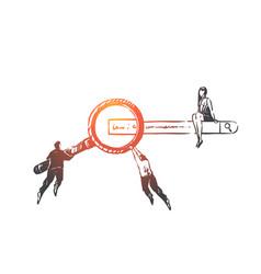 search engine optimization seo concept sketch vector image