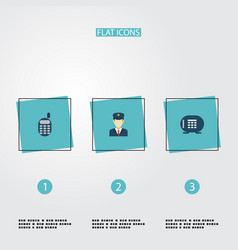Set of procuring icons flat style symbols with vector