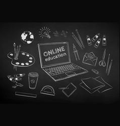 set online artist education items vector image