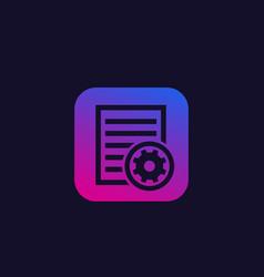 settings file icon vector image