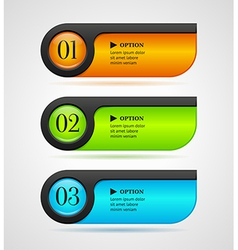Shine horizontal colorful options bannersbuttons vector