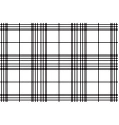 simple black white tartan seamless pattern vector image
