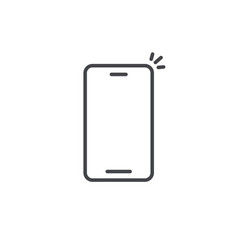 smartphone icon line outline art design of vector image