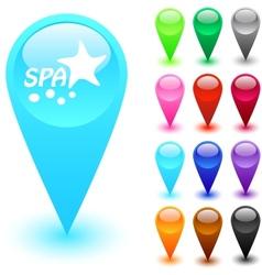 Spa button vector image