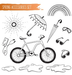 spring accessories set vector image