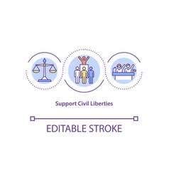Support civil liberties concept icon vector