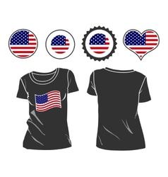 t-shirt with USA flag vector image