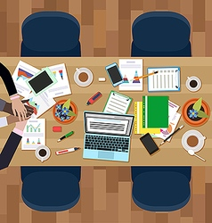 Teamwork in business vector image