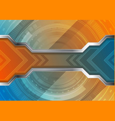 Technology abstract background with gear shape and vector