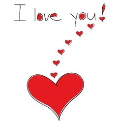 the heart lover declaration love vector image