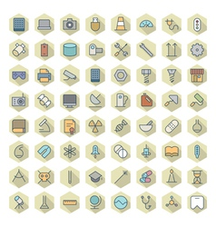 Thin Line Icons For Technology Industry Science vector image vector image