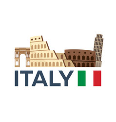 Travel to italy rome skyline vector