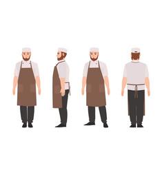 Waiter professional restaurant and kitchen worker vector