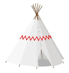 Wigwam with pattern vector