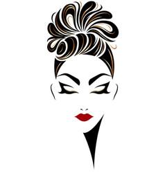 Women hair style icon logo women on white vector