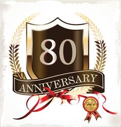 80 years anniversary golden label vector