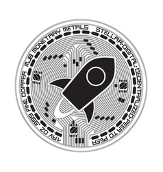 crypto currency stellar black and white symbol vector image vector image