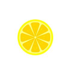 lemon slice icon vector image vector image