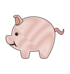 piggy safety money bank concept vector image vector image