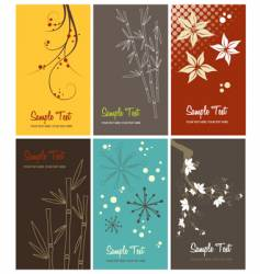 set of floral business cards vector image vector image