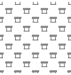 Traffic barrier pattern simple style vector image