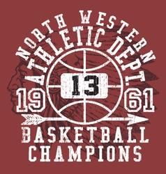 Vintage Americana Athletic Apparel Design vector image vector image