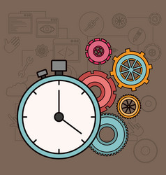 background with time factor in process of the vector image vector image