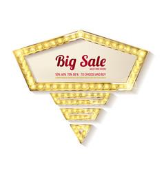 Big sale retro light frame vector